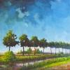 Landschap bij Vlagtwedde (Gr) 06 o o l 70x70cm 2006