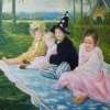 Portret van de zusjes o o l 70x90cm 2004
