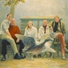 Portret van een familie o o l 50x70cm 2003