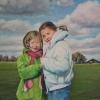 Portret van kiki en wieneke o o l 40x50 cm 2006