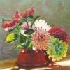 Stilleven met bloemen o o l 25x30cm 2007