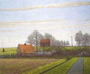 Lekdijk klein Ans Wilbers 2018 o.o.l. 60 x 70 cm